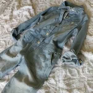 Denim Jumpsuit Size M 7-8 Girls Fashion